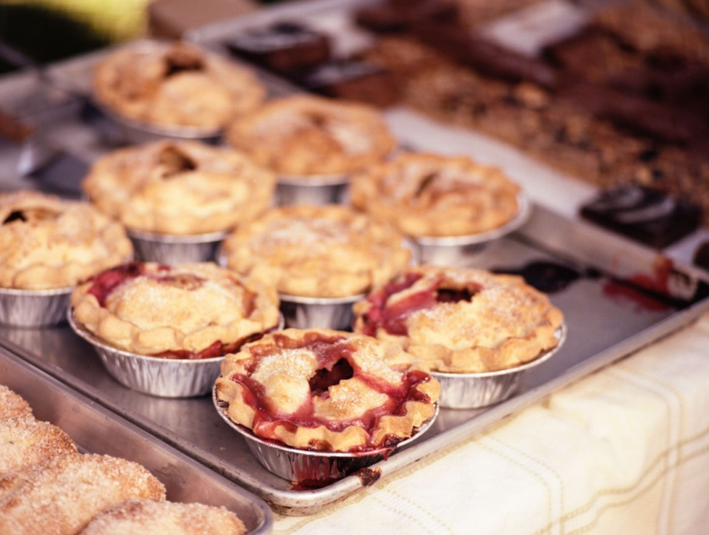 Cherry pies at Salt Lake Farmers Market