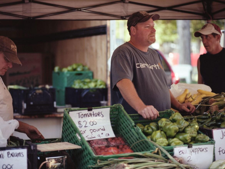Vendor at Salt Lake Farmers Market
