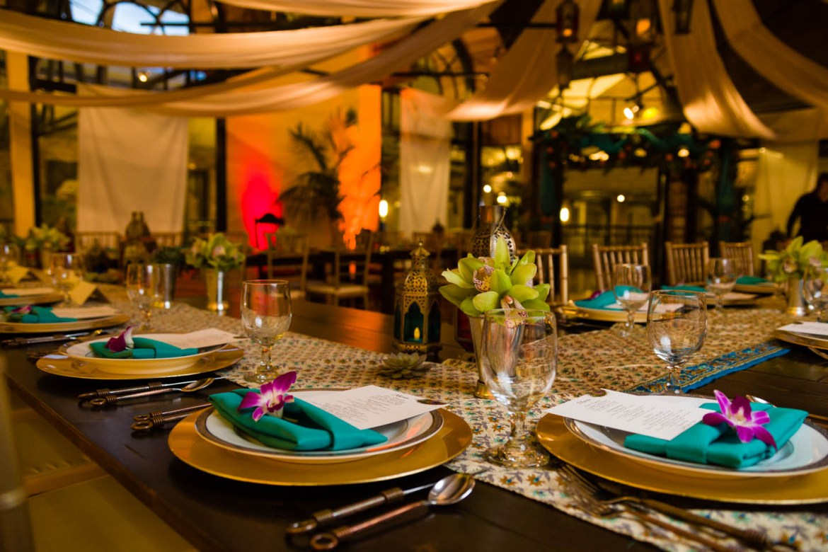 A sit down dinner catered by Le Croissant Catering