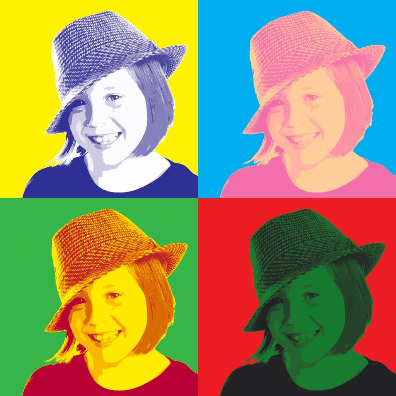 Andy Warhol Style Portrait