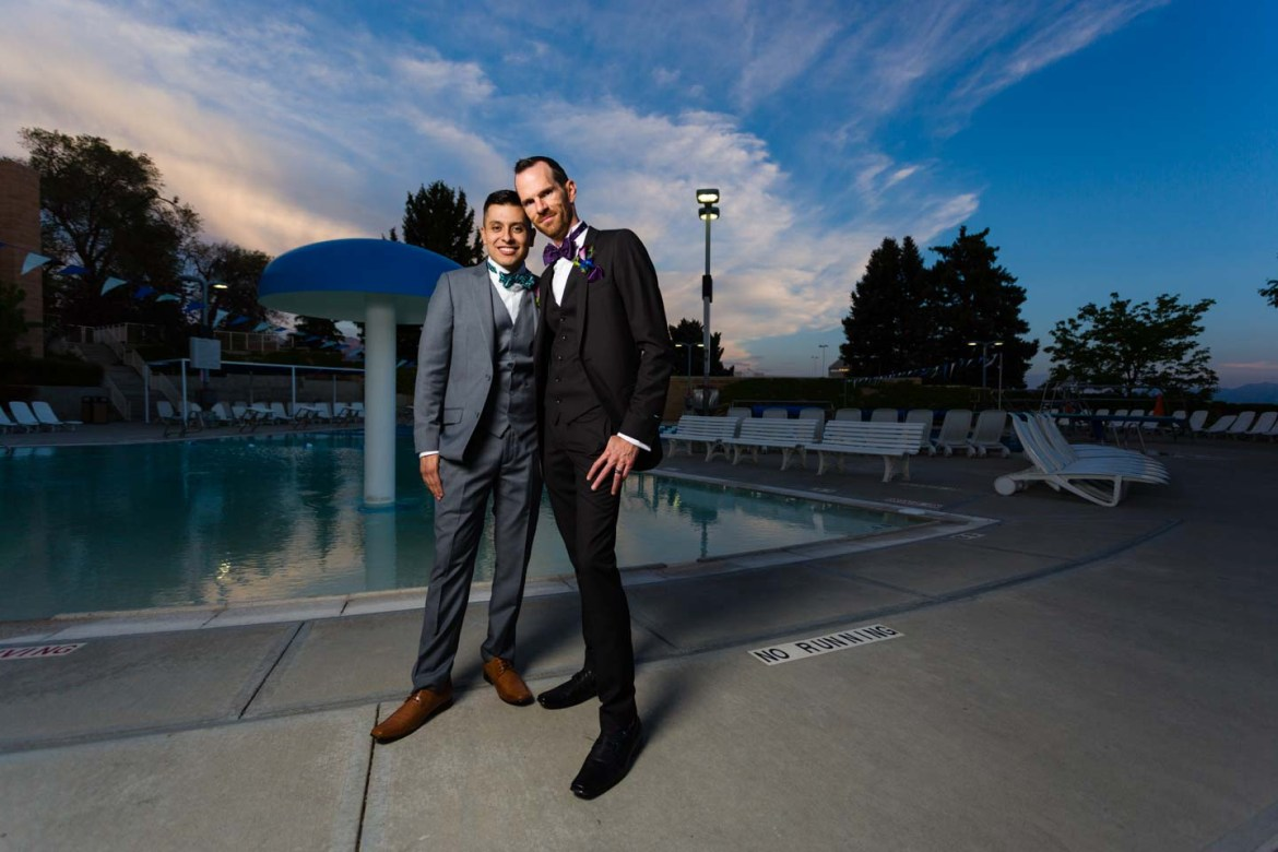 First time I have photographed a wedding couple by the pool