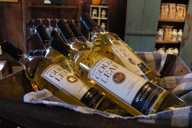 Gold Leaf Wine Bottles