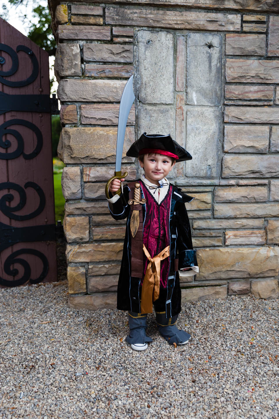 Alexander dressed as a pirate. My guess is Captain Jack Sparrow