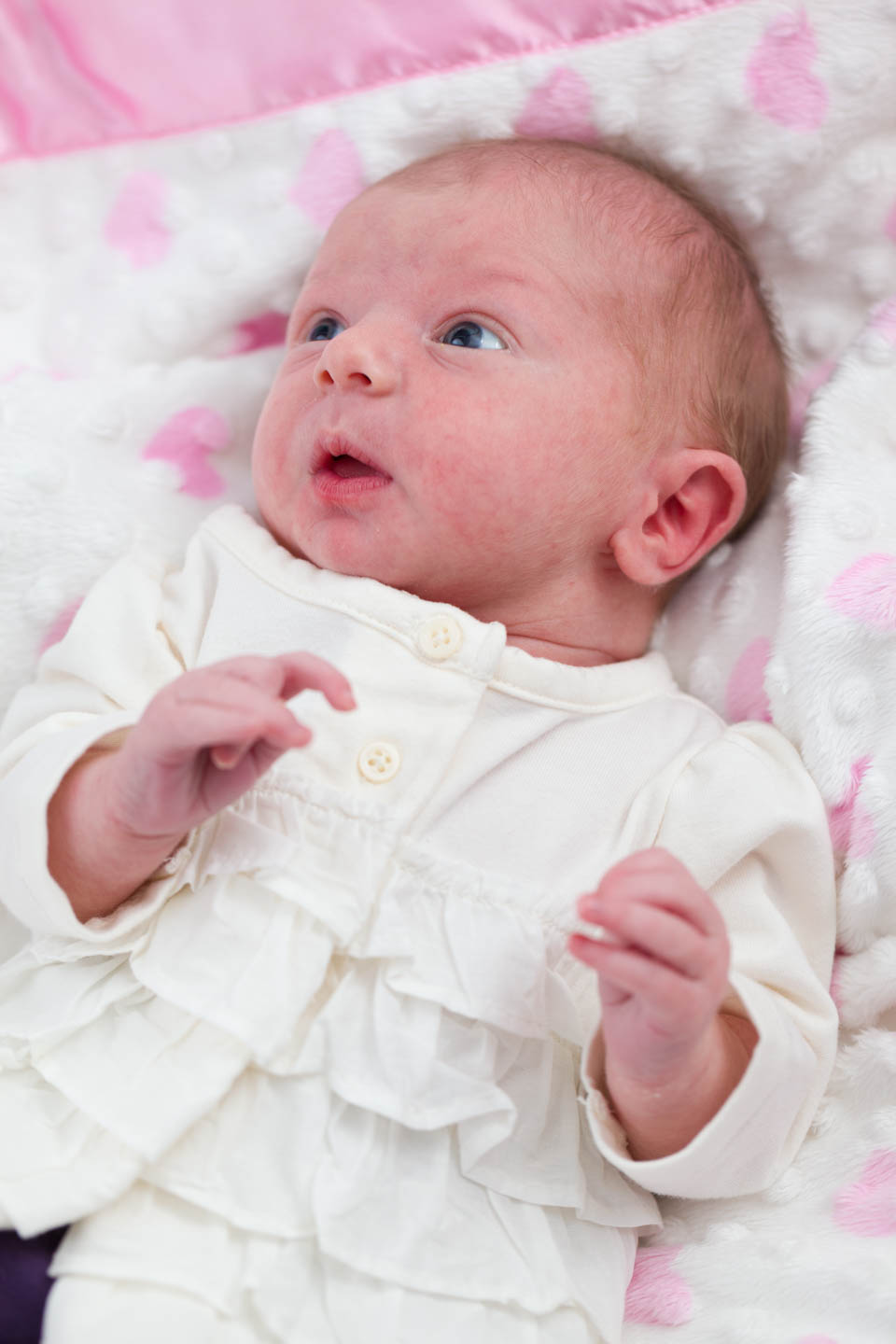 Baby Britain was a champ for her baby photo shoot
