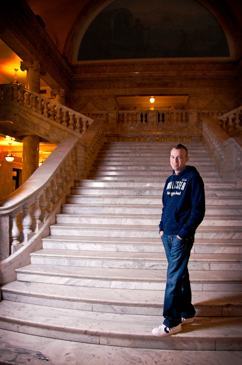 Inside the Utah State Capitol for a portrait session