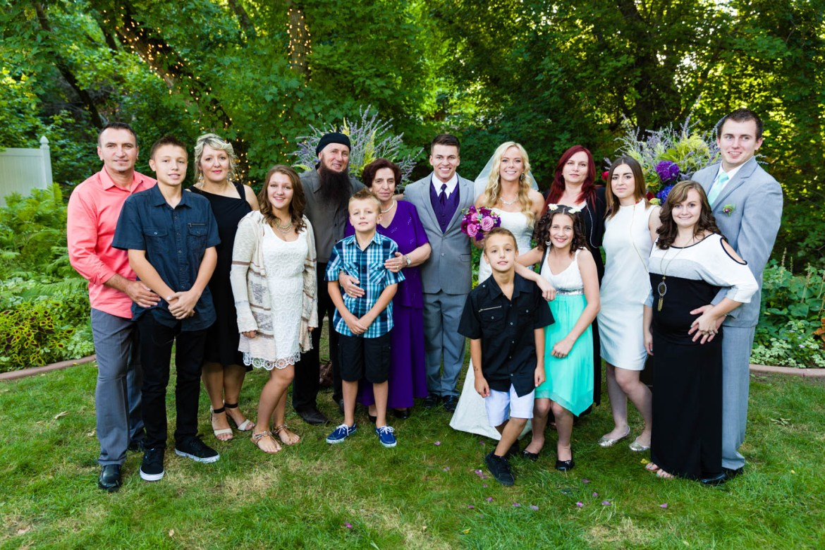Groom side of the family in the group photos