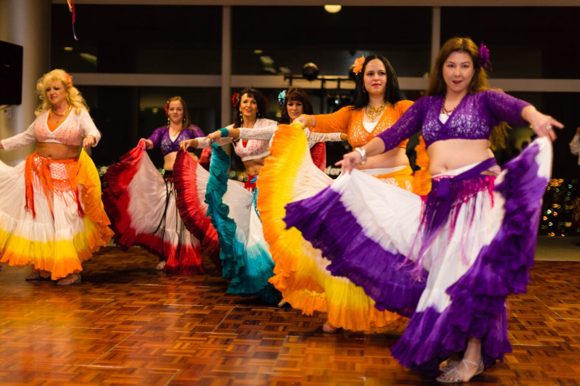 Dancers entertain the wedding party