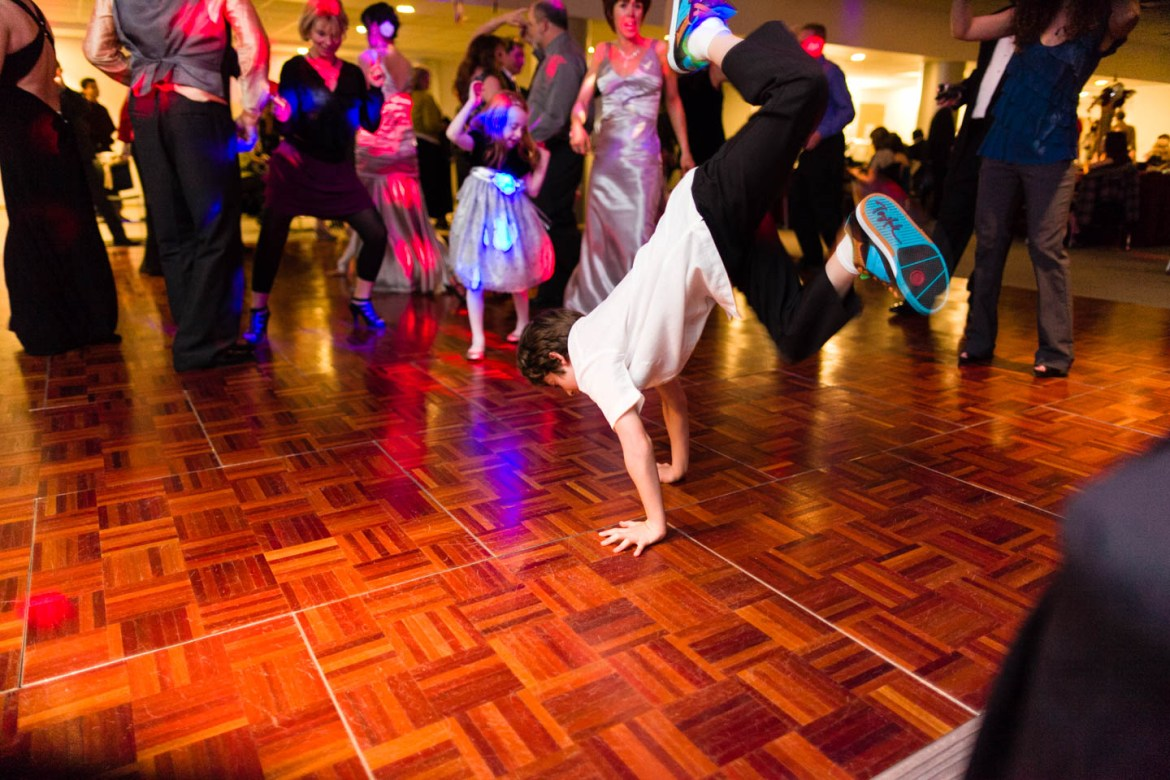 Breakdancing at the reception