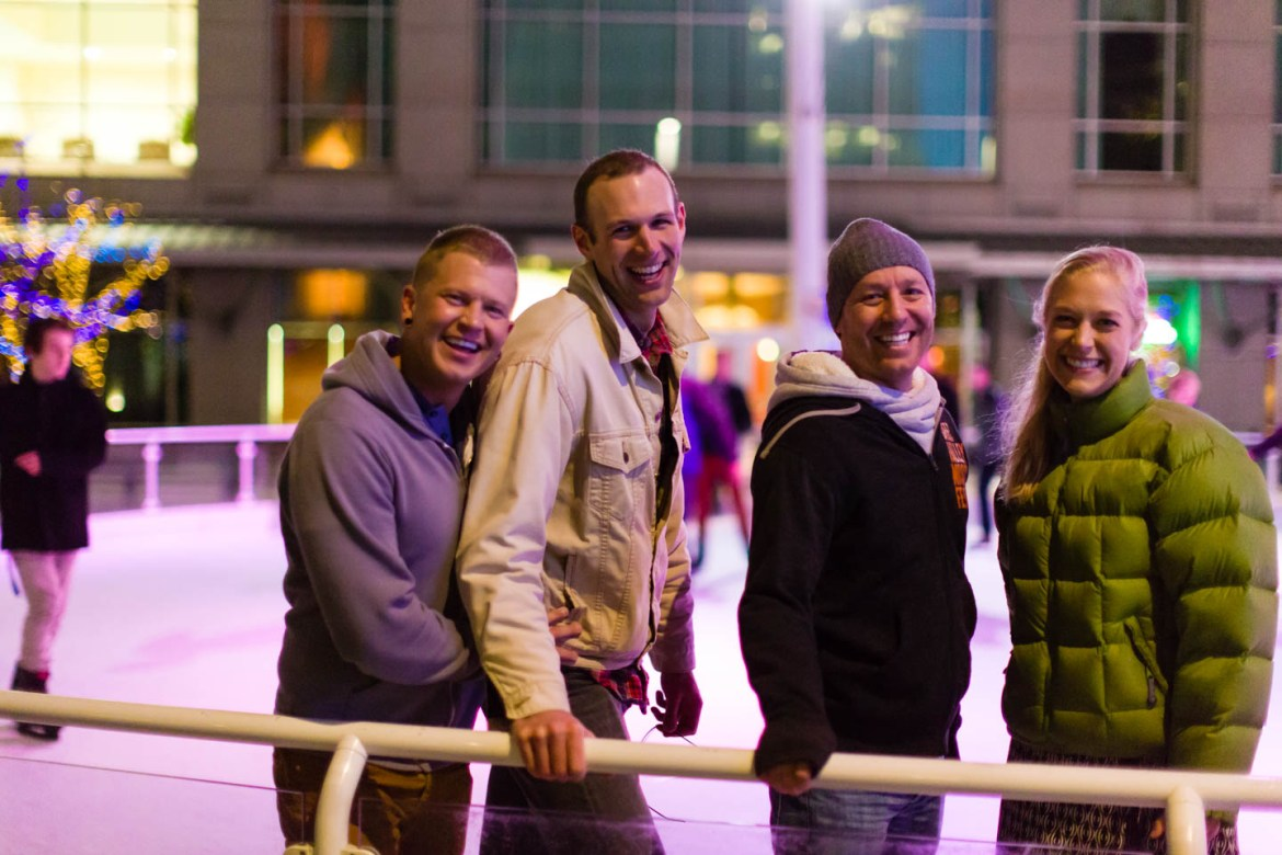 Ice Skaters pose for the camera