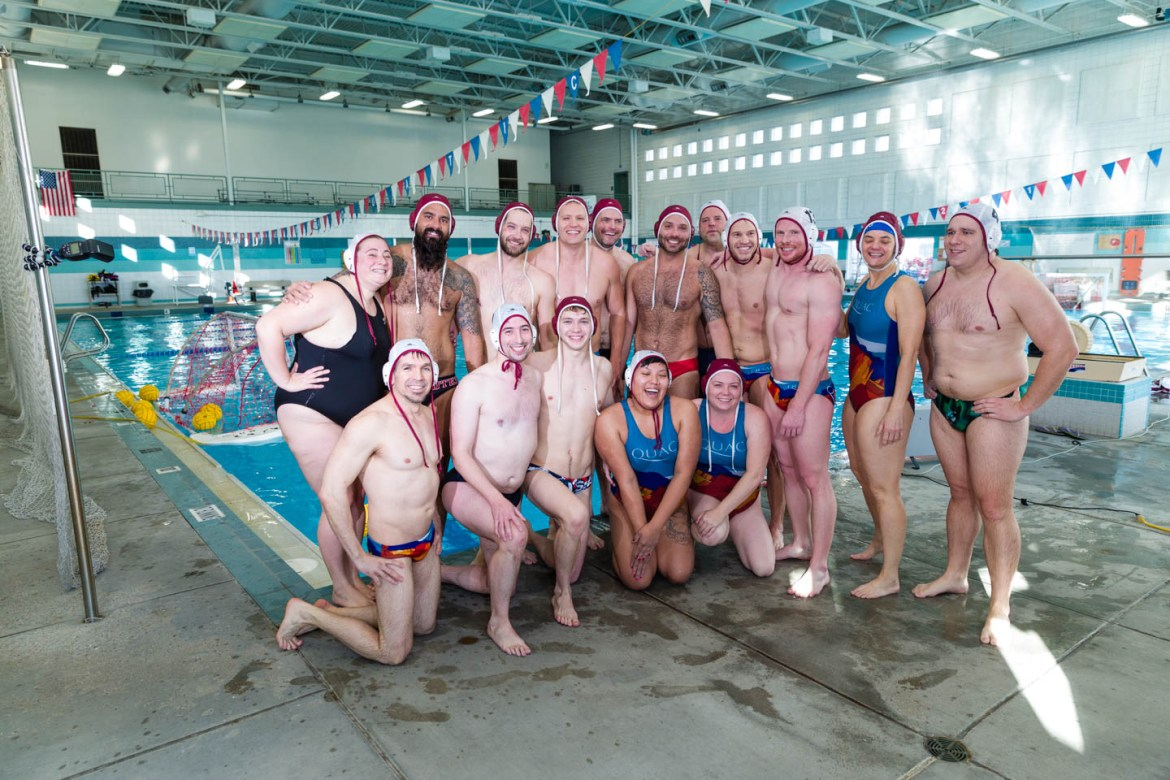 Water Polo teams gather for a game of water polo