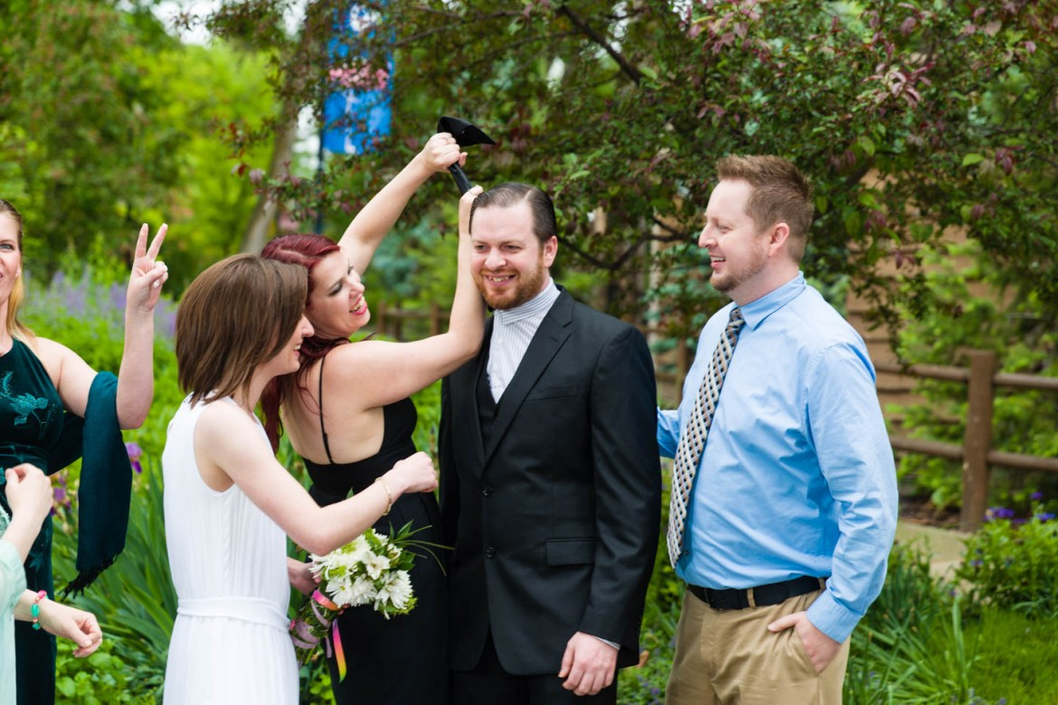 Capturing candid photos between the formal portraits