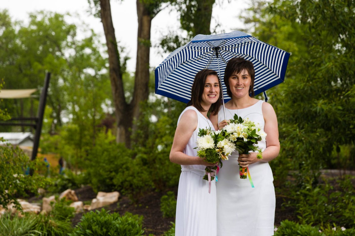 The umbrella turned into a prop during the photo shoot