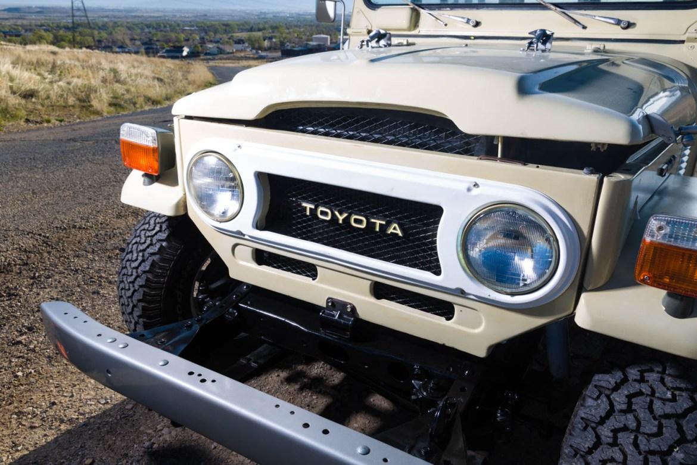 Beige Toyota Land Cruiser