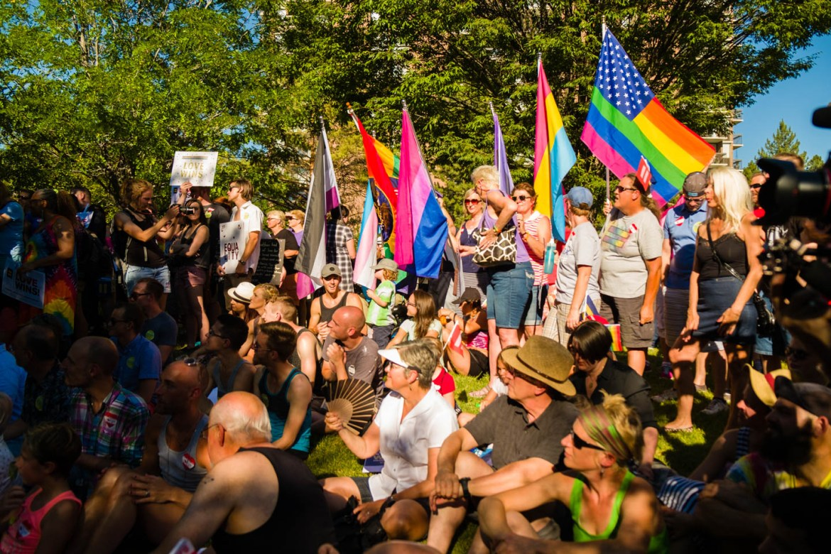 Many LGBT groups attend