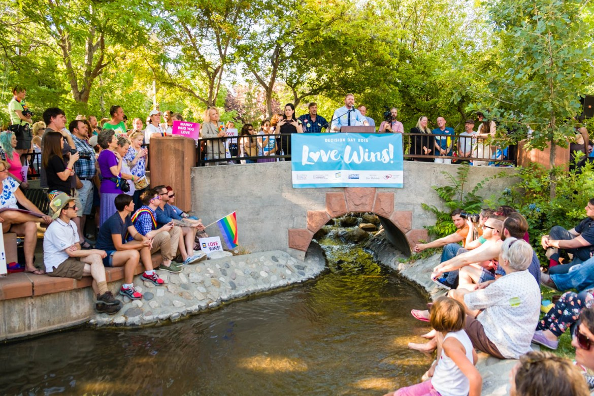 Marriage Equality proponents speak at City Creek Park
