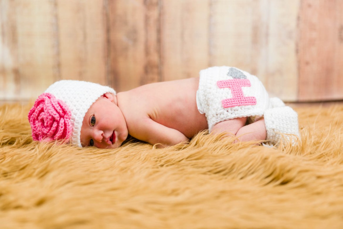 Traditional baby pose for newborns