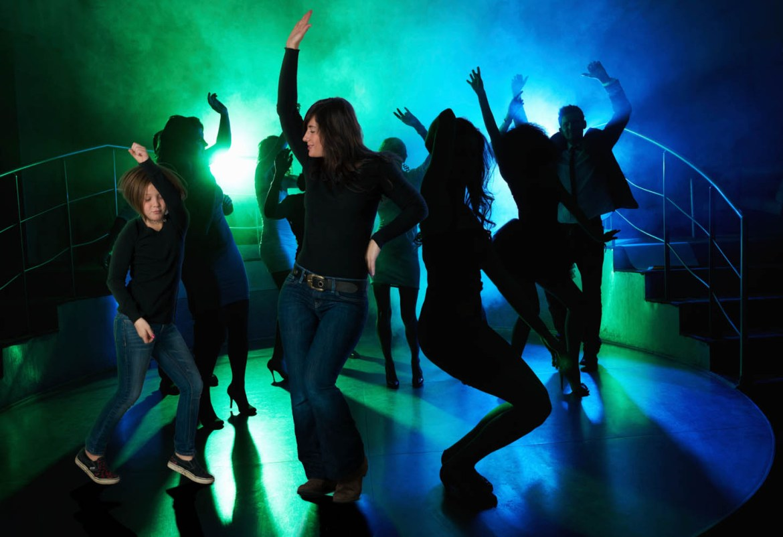 Photoshopped into a dance club
