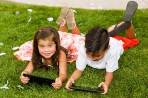 Kids find fun on iPads