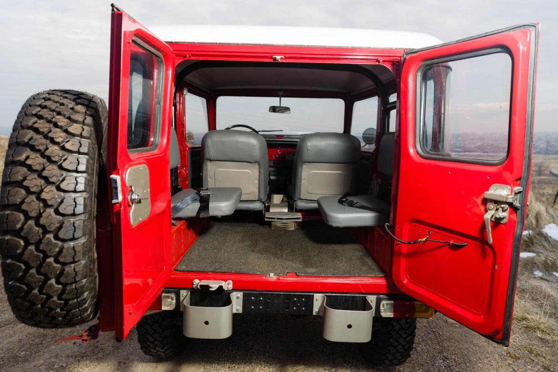Inside the Toyota Land Cruiser