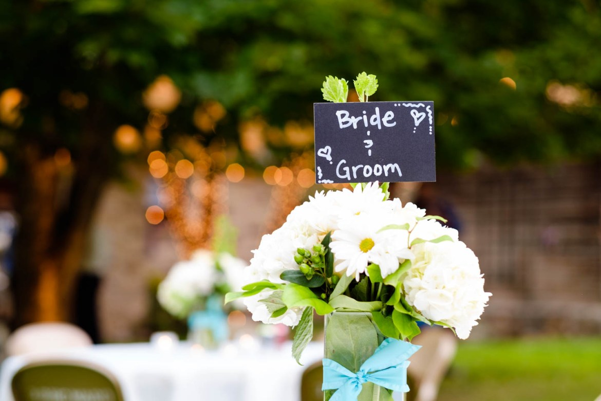 Wedding signs and wedding details