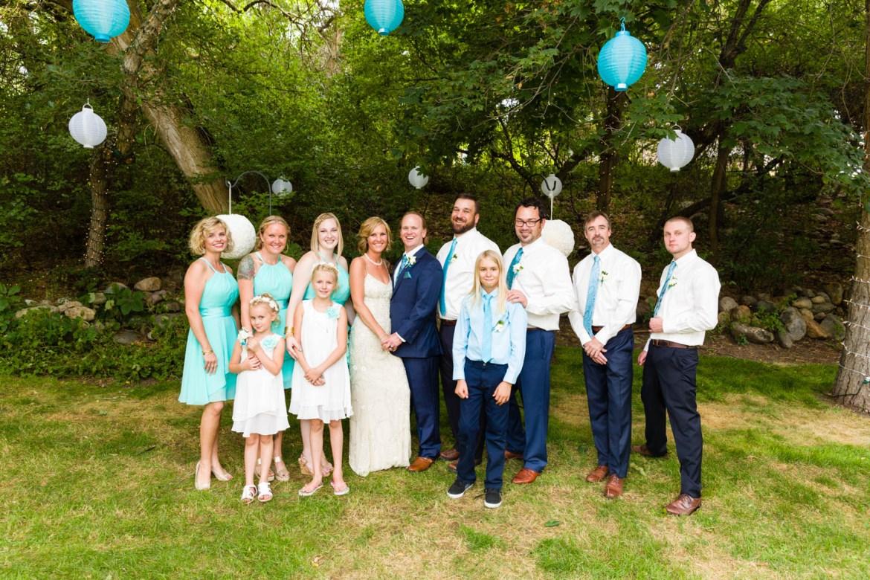 Wedding party formal portrait