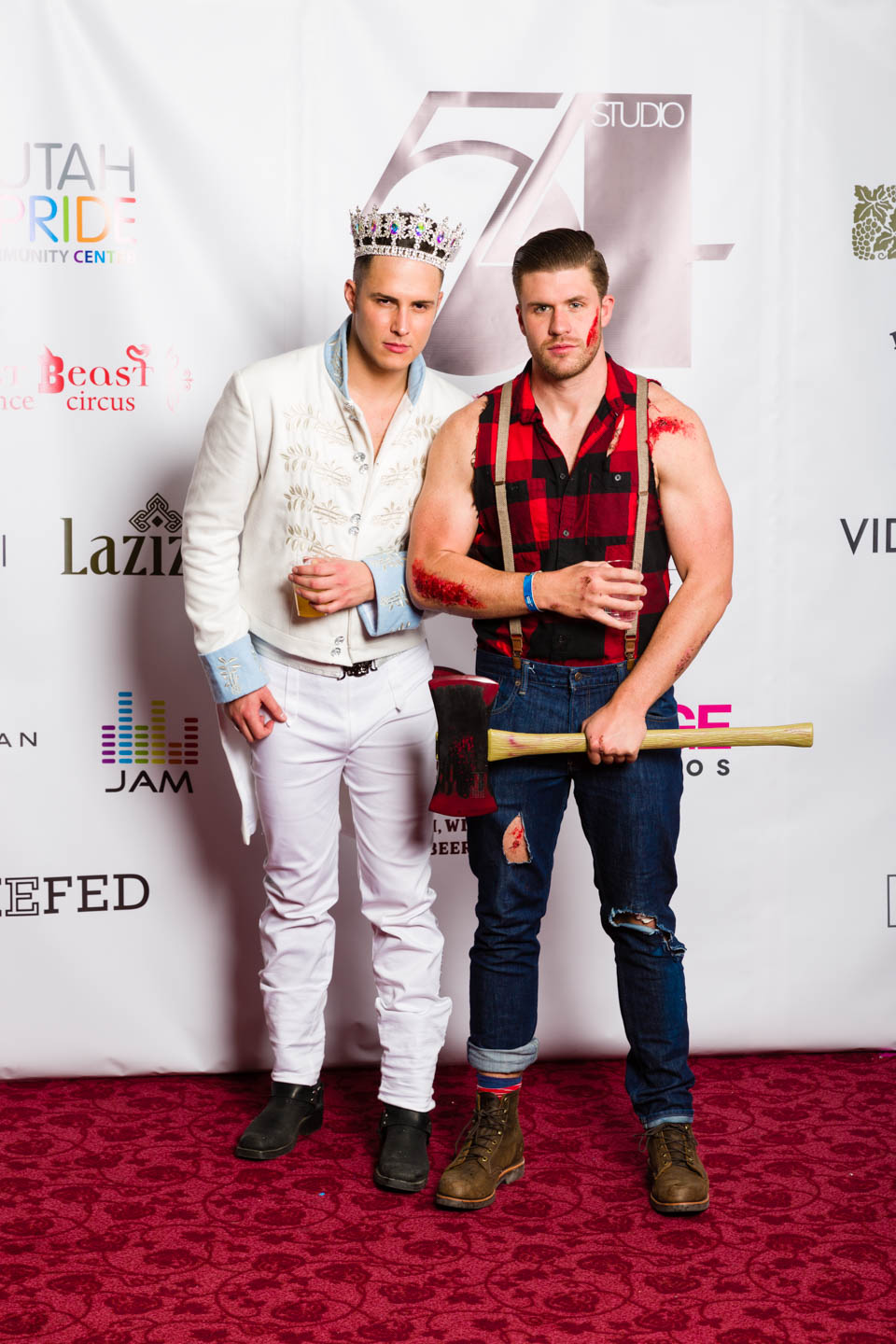 Prince Charming and a lumberjack from a motorocycle accident