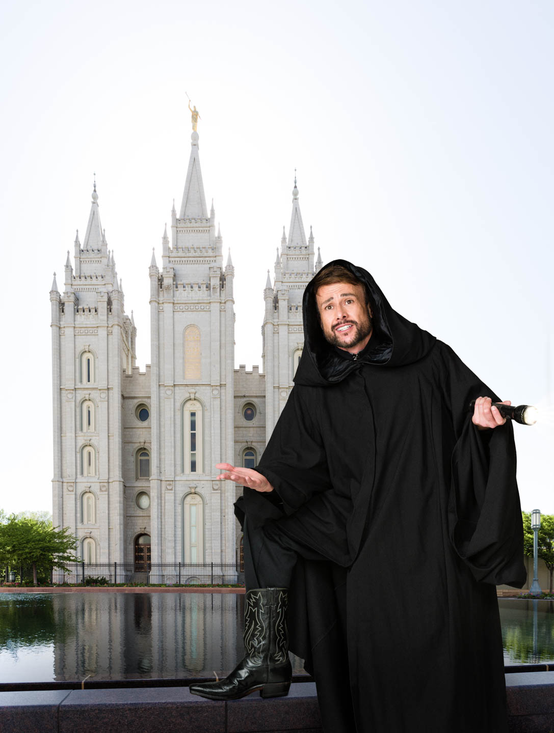Steven looks for solace by the Salt Lake Temple