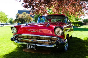 1957 Chevy in Red