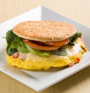 Country breakfast thinner sandwich