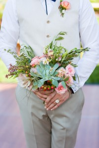Dustin had a bouquet