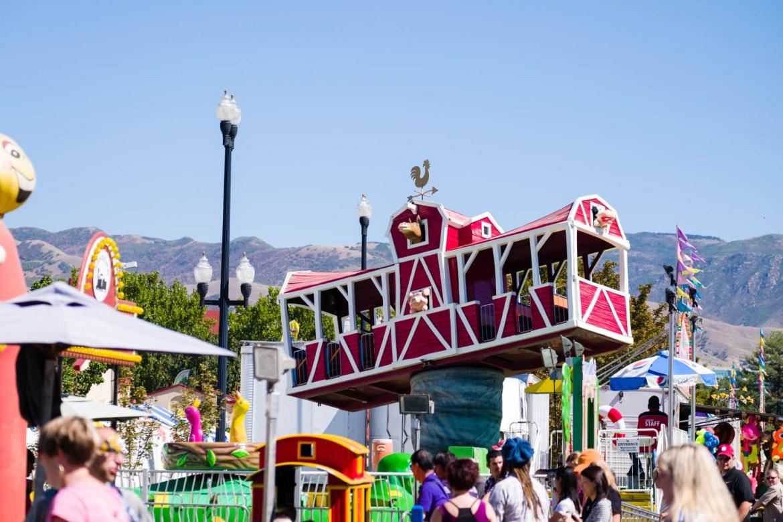 Rides at the Utah State Fair