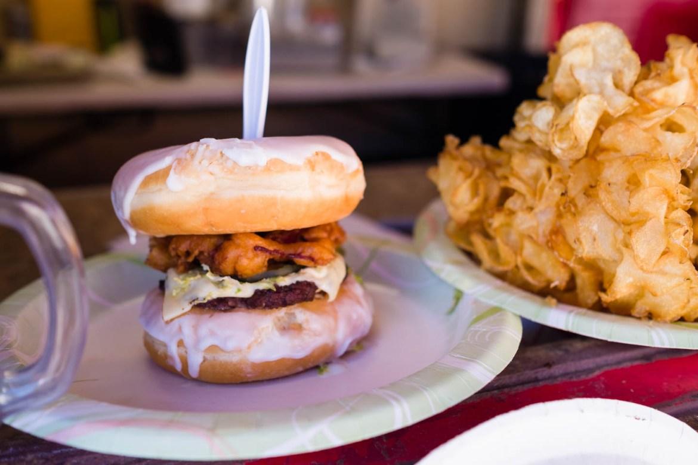 Hamburger with Donut buns