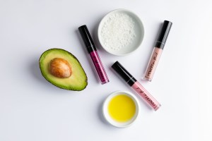 Product photographed with their ingredients