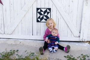 Molly & James by the barn