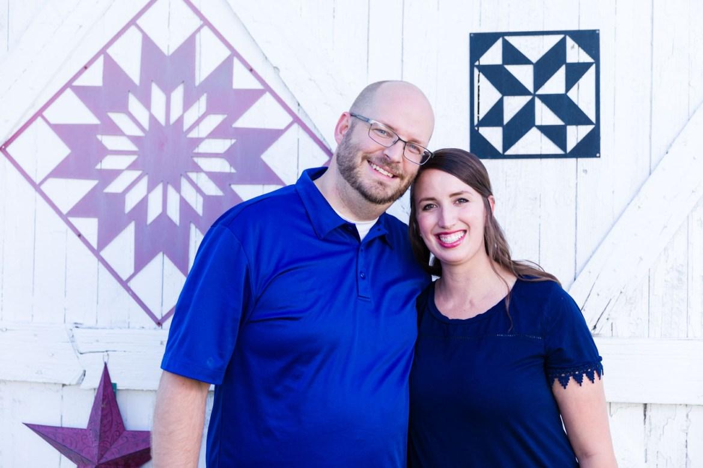 Joel & Carissa by the barn