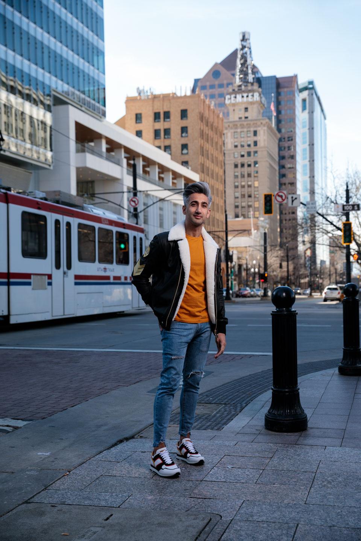 Tan France in Downtown Salt Lake City