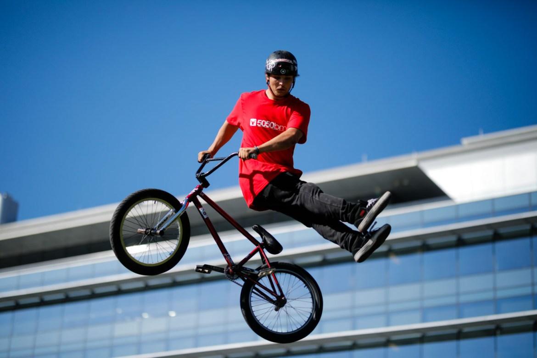 BMX Biker Flying