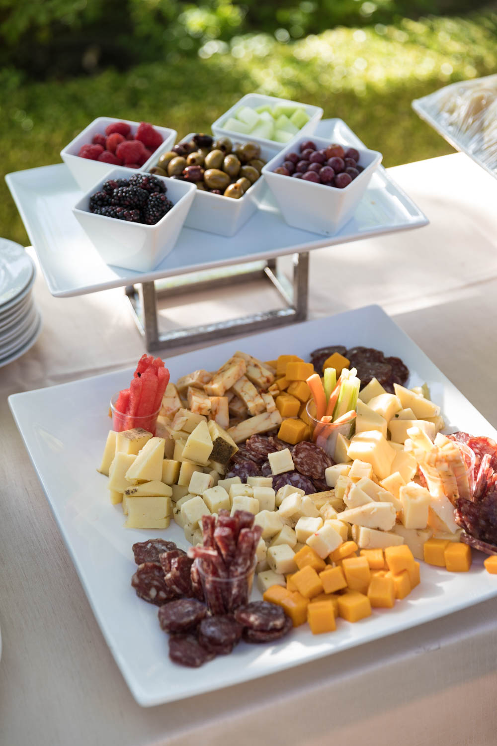 Cheese & fruit plate