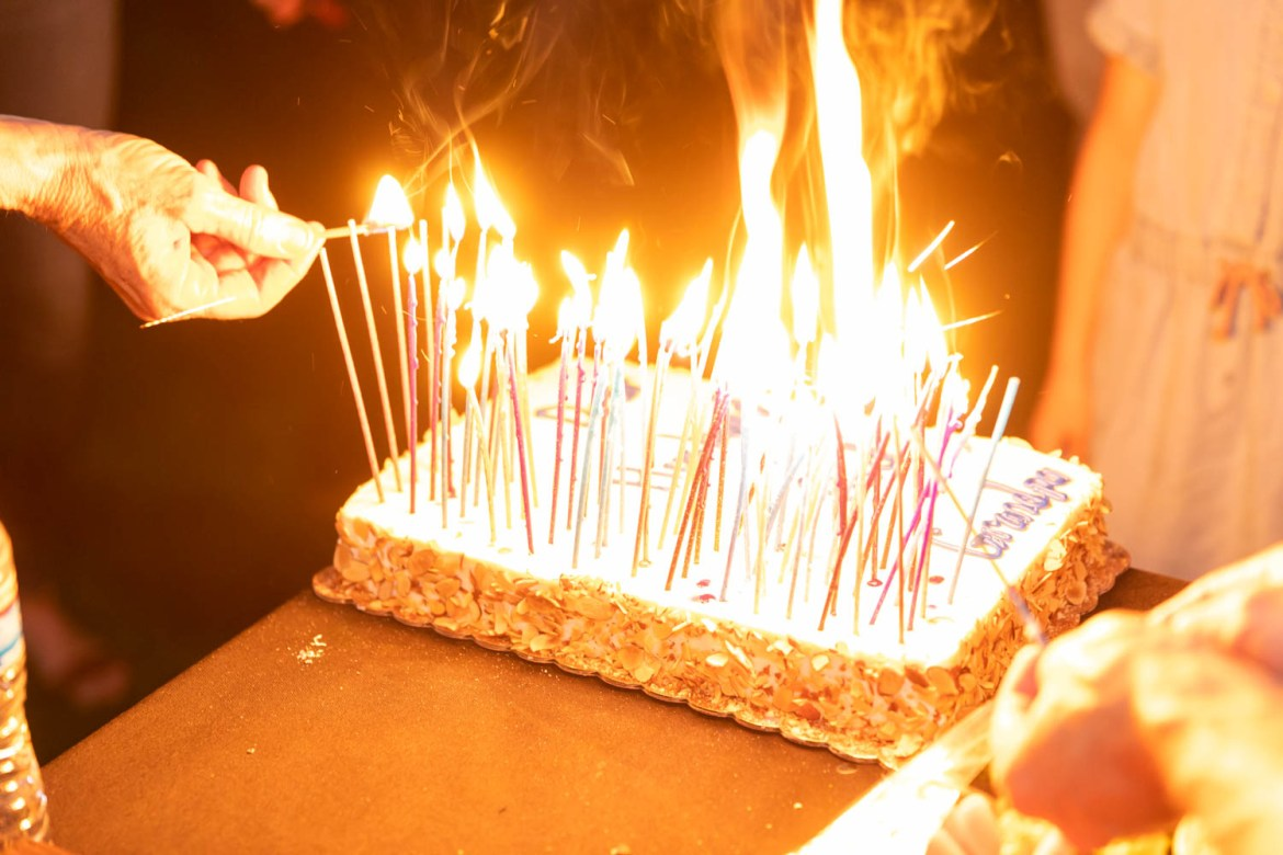 That cake is on fire