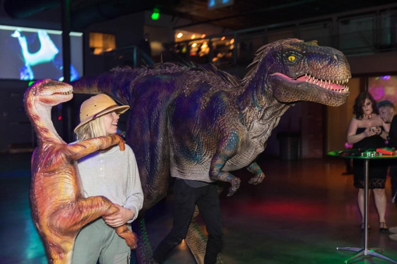 A velociraptor costume
