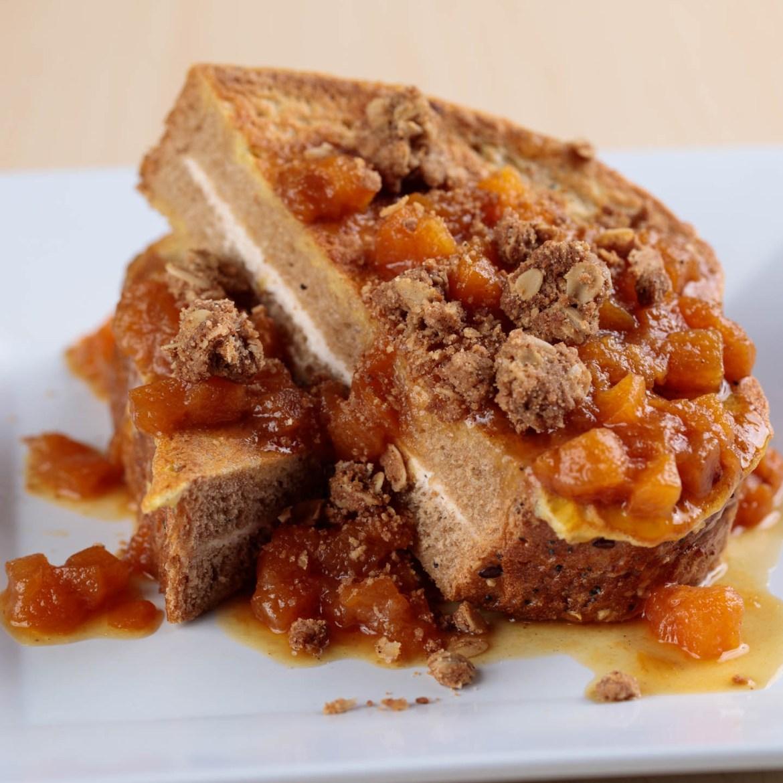 Peach Streusel French Toast