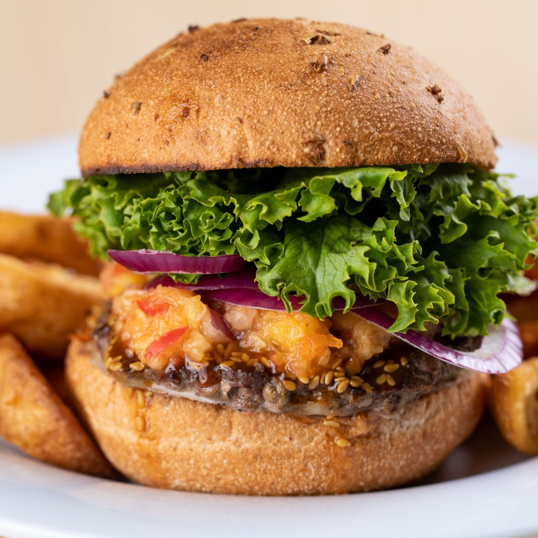 Creative food styling for hamburgers