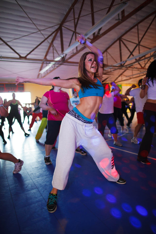 Zumba mixes dance and exercise