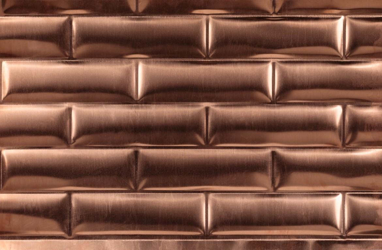 Copper subway tiles