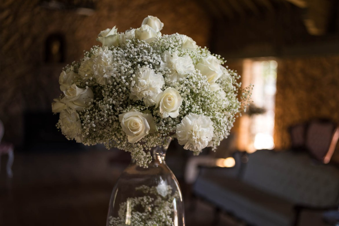 White roses for a wedding