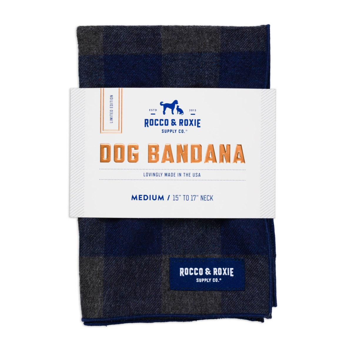 Blue bandanas for dogs