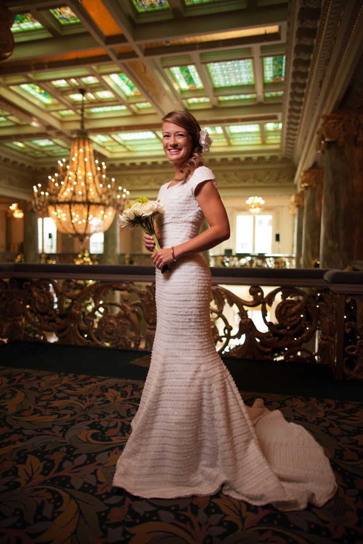 Kelli Jo's bridals at the Joseph Smith Memorial Building
