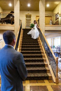 Dad watches his daughter the bride
