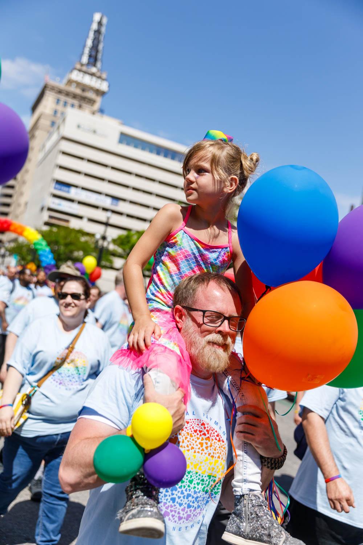 Lots of families at Utah Pride