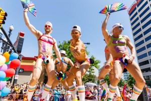Shirtless gays at Utah Pride